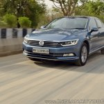 VW Passat review action shot