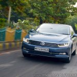 VW Passat review front action shot