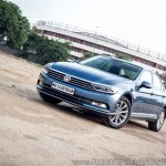 VW Passat review front angle
