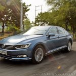 VW Passat review front three quarters action