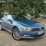 VW Passat review front three quarters