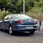 VW Passat review rear angle action shot