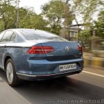 VW Passat review rear three quarters motion