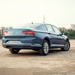 VW Passat review rear three quarters