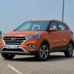 2018 Hyundai Creta facelift review front three quarters
