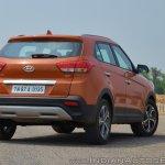 2018 Hyundai Creta facelift review rear angle