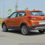 2018 Hyundai Creta facelift review rear three quarters motion