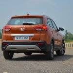 2018 Hyundai Creta facelift review rear three quarters