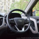 2018 Hyundai Creta facelift review steering wheel
