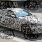 2019 BMW 3 Series front three quarters right side spy shot