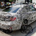 2019 BMW 3 Series rear three quarters spy shot