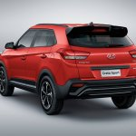 2019 Hyundai Creta Sport rear three quarter launched in Brazil