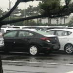 2019 Hyundai Elantra (facelift) rear three quarters spy shot