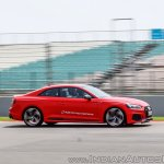 Audi RS5 track drive action shot side