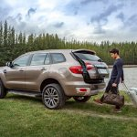 Facelifted Ford Everest (Facelifted Ford Endeavour) gesture tailgate