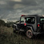 Modified Mahindra Thar by Red-D customs rear three quarters