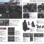 New Suzuki Jimny accessories brochure interior