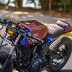 Royal Enfield Stardust cafe racer by Maratha Motorcycles front left quarter