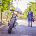 Royal Enfield Stardust cafe racer by Maratha Motorcycles front profile