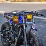 Royal Enfield Stardust cafe racer by Maratha Motorcycles front right quarter