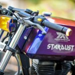 Royal Enfield Stardust cafe racer by Maratha Motorcycles fuel tank left profile