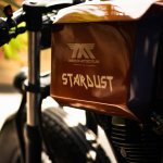 Royal Enfield Stardust cafe racer by Maratha Motorcycles fuel tank left side profile