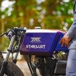 Royal Enfield Stardust cafe racer by Maratha Motorcycles fuel tank left side