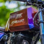 Royal Enfield Stardust cafe racer by Maratha Motorcycles fuel tank right quarter