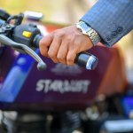 Royal Enfield Stardust cafe racer by Maratha Motorcycles handlebar grips