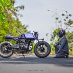 Royal Enfield Stardust cafe racer by Maratha Motorcycles right profile