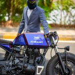 Royal Enfield Stardust cafe racer by Maratha Motorcycles right side profile