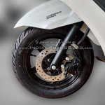 Suzuki Burgman Street spied at showroom disc brake