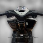 Suzuki Burgman Street spied at showroom handlebar