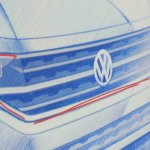 VW T-Cross sketch grille