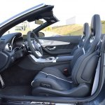 2018 Mercedes-AMG C 63 S Cabriolet (facelift) front seats (roof down)