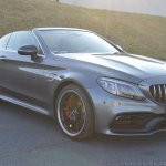 2018 Mercedes-AMG C 63 S Cabriolet (facelift) front three quarters right side (top down)