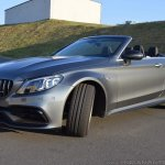 2018 Mercedes-AMG C 63 S Cabriolet (facelift) front three quarters (wheel out)