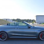 2018 Mercedes-AMG C 63 S Cabriolet (facelift) right side (top down)