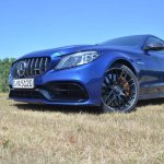 2018 Mercedes-AMG C 63 S (facelift) front three quarters low-angle