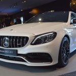 2018 Mercedes-AMG C 63 S (facelift) white front three quarters