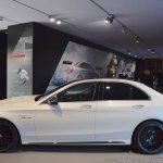 2018 Mercedes-AMG C 63 S (facelift) white profile