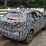 Indian-spec Nissan Kicks rear three quarters spy shot