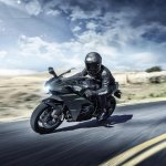 Kawasaki Ninja H2 Carbon dynamic front quarter