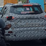 Mahindra S201 rear three quarters spy shot Chennai