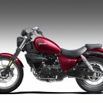 Hyosung Mirage 250 Red Side Profile Press Image