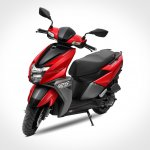 Tvs Ntorq 125 Metallic Red Front Three Quarters