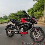 Bajaj Pulsar Ns160 Review Front Right Quarter