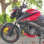 Bajaj Pulsar Ns160 Review Front Tyre Headlight Tan