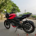 Bajaj Pulsar Ns160 Review Rear Left Quarter 2