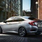 India Bound 2019 Honda Civic Images Rear Three Qua
